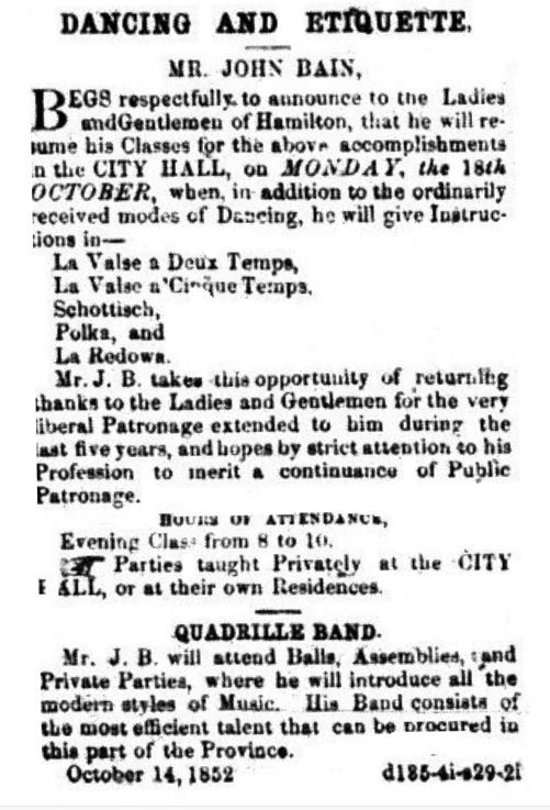 Hamilton Spectator - 16 October, 1852