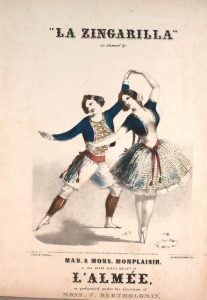 "Hippolyte Monsplaisir and his wife Adele Monplaisir ""Courtesy of the Lester S. Levy Collection of Sheet Music, The Sheridan Libraries, The Johns Hopkins University"""