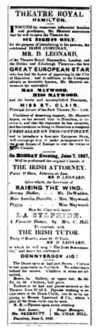 Hamilton Spectator June 5, 1847